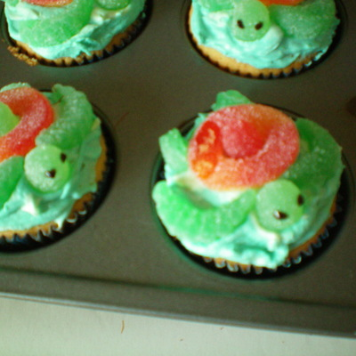 Mountain Dew Squirt Turtles Cupcakes