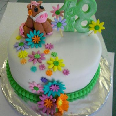 Birthday Cake For A Girlyhorse Mad 18 Year Old