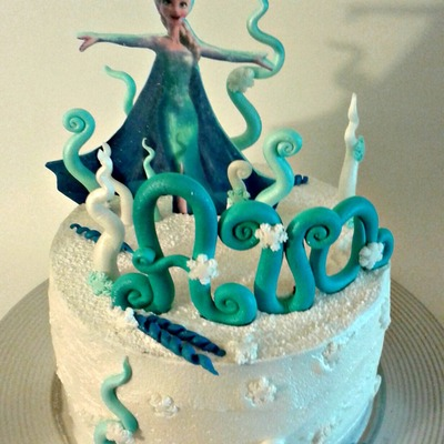 Frozen Elsa Cake For My Daughter's 4Th Birthda!