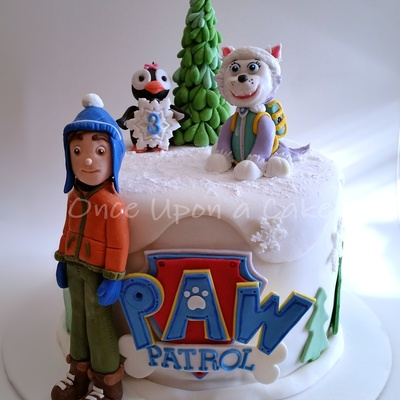 Paw Patrol Cake A Now 3 Year Old Girl Chocolate Cake With Vanilla Buttercream 3 Layers Of Yum