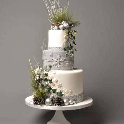 Cake Central Magazine Winter Silver Wedding Theme - Volume 3, Issue 11
