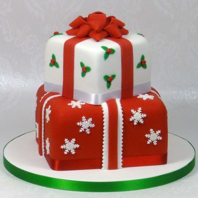 2 Tier Gift Box Cake on Cake Central