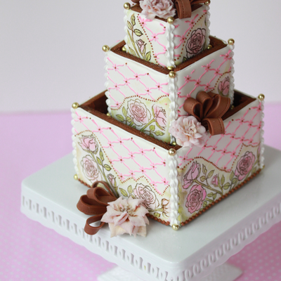 3-D Cookie Wedding Cake