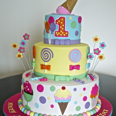 Icecream Theme Cake.