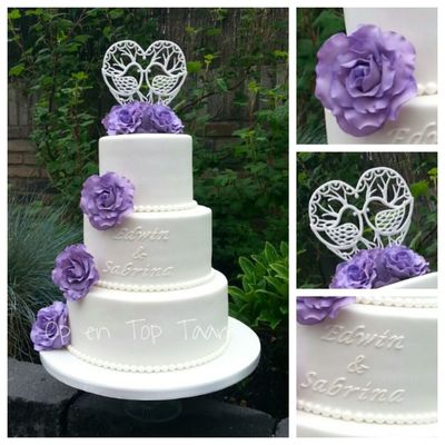 Lilac Roses, Icing Heart