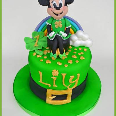 Minnie Mouse St Patricks Day Themed Cake