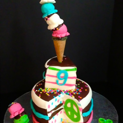 Cake Amp Ice Cream Birthday Cake