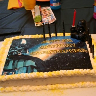 Soi Think Ill Decorate My Sons Cake Purchased An Edible Image From A Vendor On Amazon Bought A Basic Set And Winged It