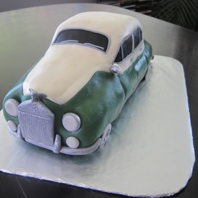 First Car Cake Rolls Royce For My Husbands Birthday Hes Always Wanted Onethis Is Probably The Only One Hell Ever Get Car Ca