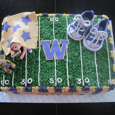 Not Your Traditional Baby Shower Cake But The Client Wanted To Reflect The Fact That The Parents To Be Were Expecting A New Little Huskies...