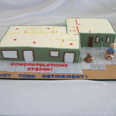 The Retiree And His Wife Are Just Building Their Dream Retirement Home So His Wife Wanted The Celebration Cake To Show The Home And Floor P...