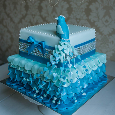 Bird Of Paradise Wedding Cake Design