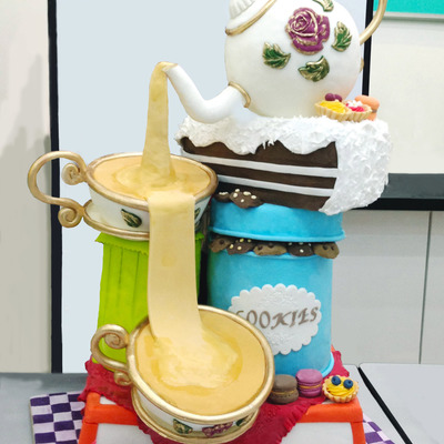 Whimsical Tea Pot Cake