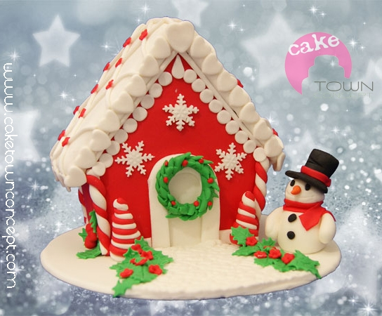 Gingerbread House Decorated With Fondant