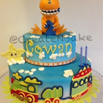 Cake Based On Dinosaur Train Theme All Made Out Of Fondant Xxx