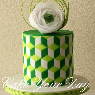Wedding Cake Green Shades.