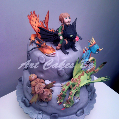 Cake 2 : How To Train Your Dragon ; Dragons: Riders Of Berk ; Dragons: Defenders Of Berk