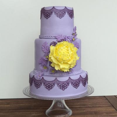 Purple And Yellow Cake Inspiration