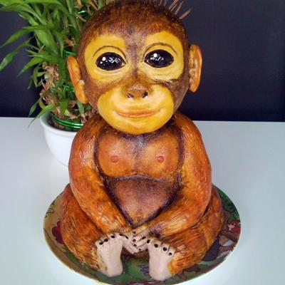 My First 3D Baby Monkey Cake