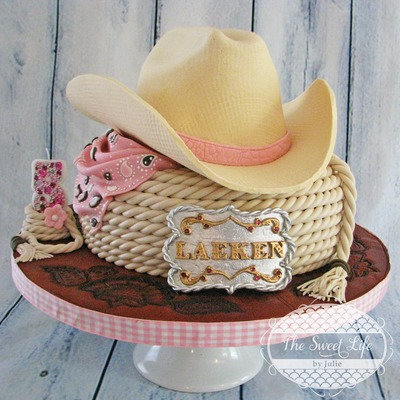 Cowboy Hat And Buckle Cake
