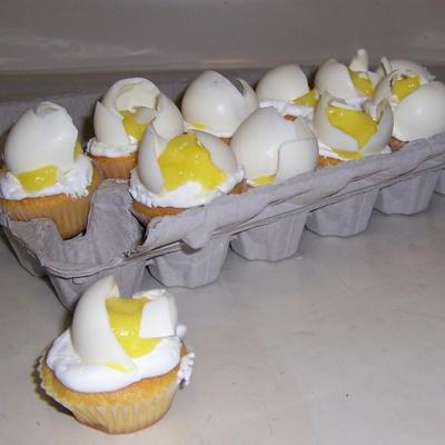 Cracked Egg Cupcakes! on Cake Central