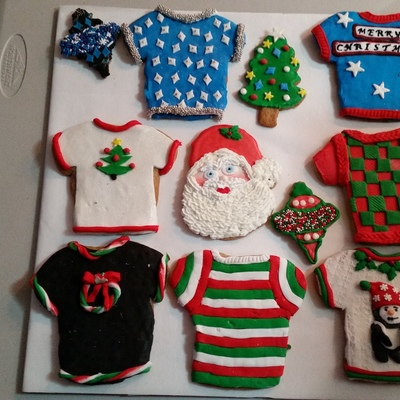 Some Of This Years Christmas Cookies Some I Used Royal Icing And Some I Used Fondant