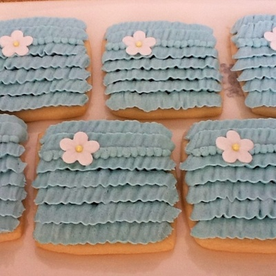 Buttercream Ruffle Cookies