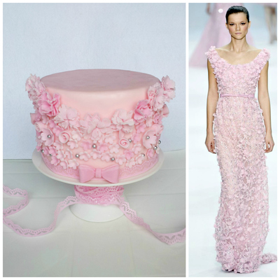 Haute Couture-Inspired Cake