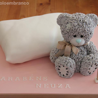 3D Pillow Cake With Me To You Teddy Bearsponge Cake With A Filling Of Berries