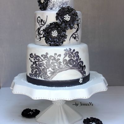 Filigree Hand-Painted Cake