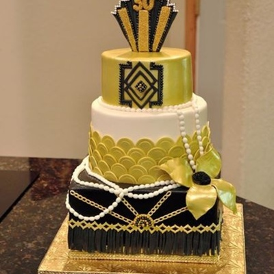 Gatsby Themed Birthday Cake Art Deco