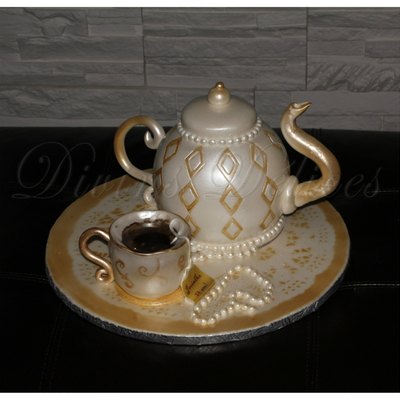 Its Tea Time Everything Edible Tea Pot And Cup Are All Cake