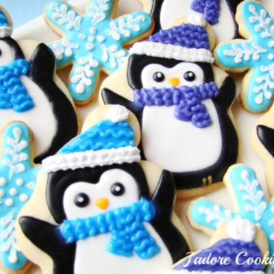 Winter Penguin Cookies