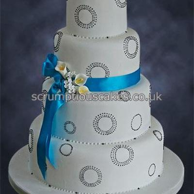 Piped Dots & Sugar Flowers on Cake Central