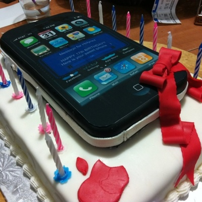 Iphone Wish Cake For My Niece' 17Th Bday
