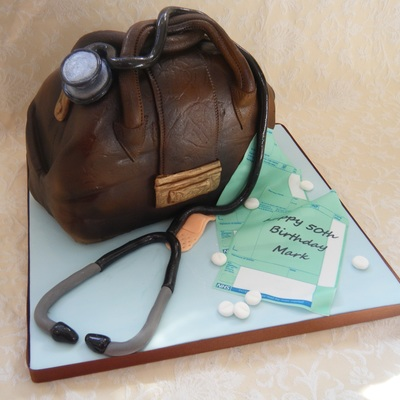 Doctors Bag Complete With Stethoscope Pills Plaster And Prescriptions