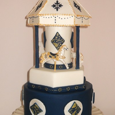 Hand Painted Carousel Cake