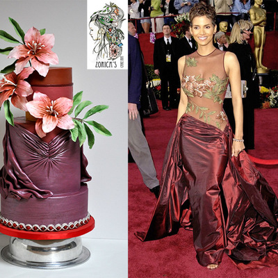 Elie Saab Fashion Inspired Cake For The Red Carpet Collaboration