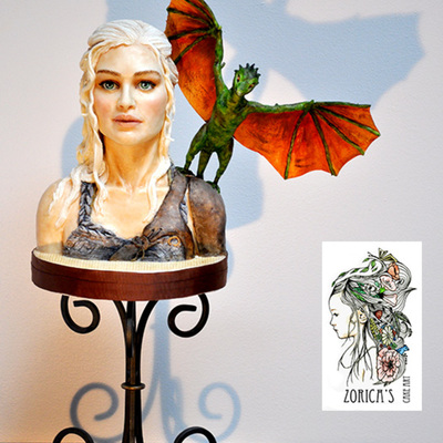 Daenerys Targaryen Bust I Made This Bust As A Reference Practice Piece Khaleesi Made From Modeling Chocolate The Head Has A Styrofoam Ba