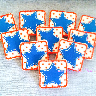 Stitched Star Cookies