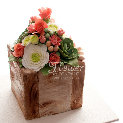 Rose & Succulent Flower Box