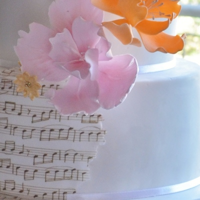 Musical Themed Wedding Cake