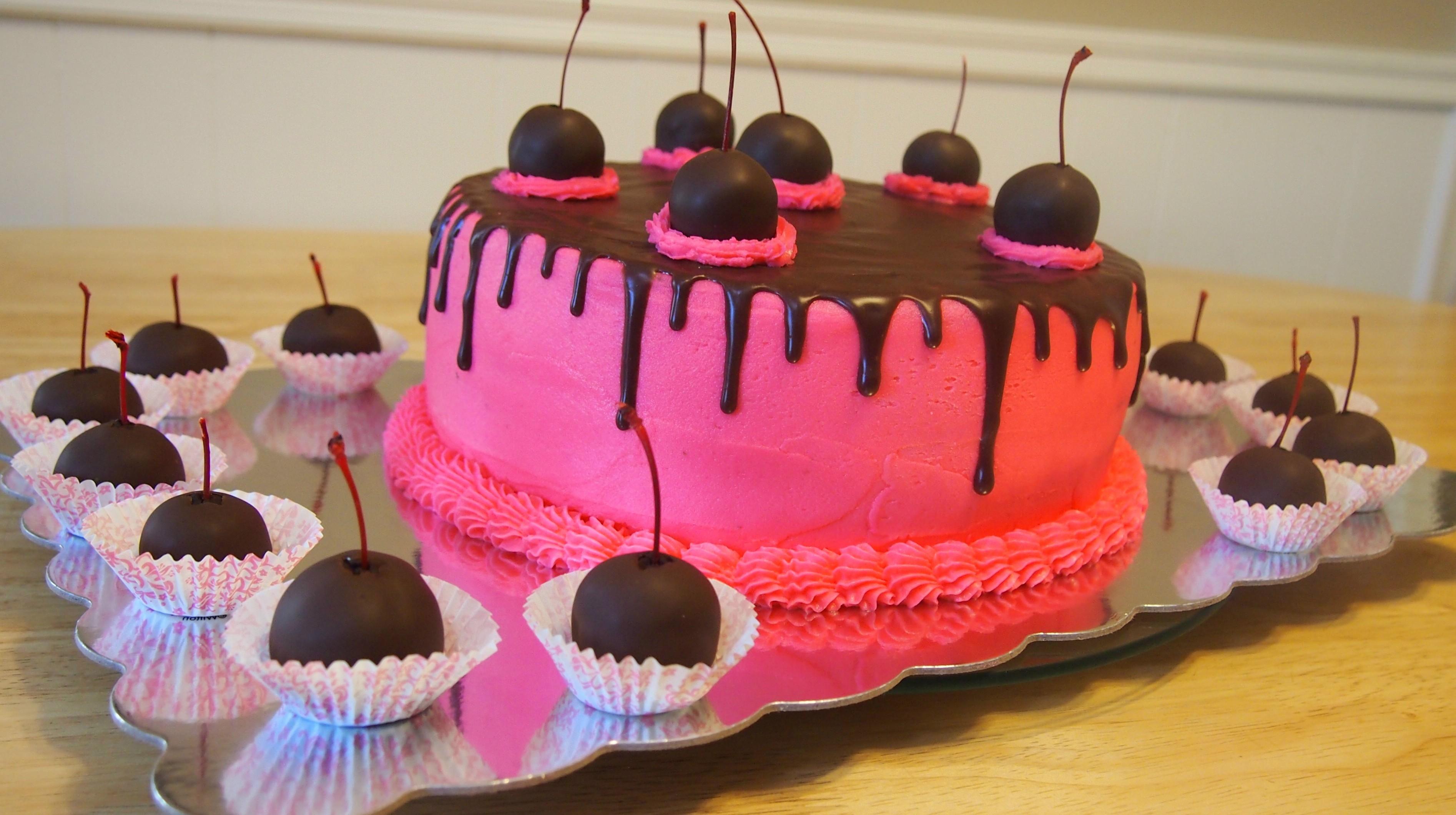 Cherries Cake Decorating Photos