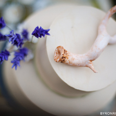 Gum Paste Antler And Lavender