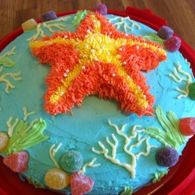 Pleasing Starfish Cake Decorating Photos Personalised Birthday Cards Akebfashionlily Jamesorg