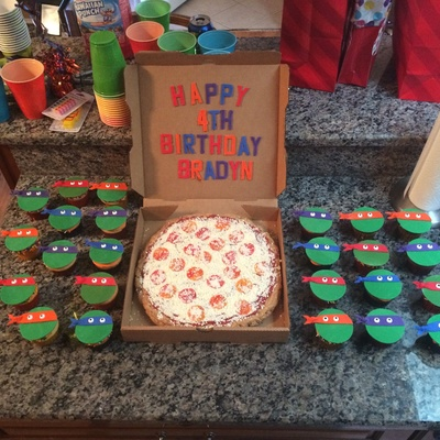 Teenage Mutant Ninja Turtles Cupcakes Chocolate Chip Cookie Pizza