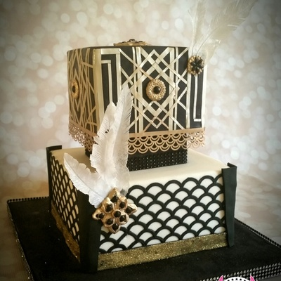 'young & Beautiful' Gatsby-Themed 40Th Birthday Cake