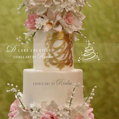 5 Tier Floral Wedding Cake