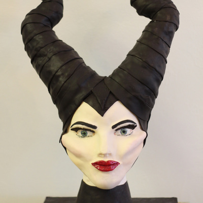 Maleficent Cake, Sculpted, Angelina Jolie Version