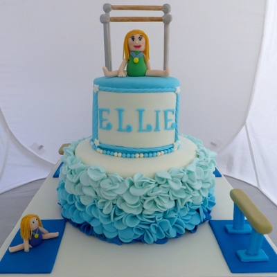 Gymnastics Themed Birthday Cake
